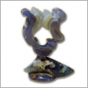 Lyre - Agate. [height 11 cm.]