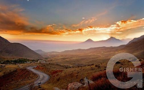 Гора Арарат.Вид из Вайоц Дзора