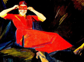 Woman in a mask. 1913