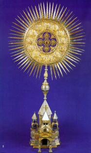 CATHEDRAL OF HOLY ETCHMIADZIN IN MINIATURE WITH THE RADIANT CROSS