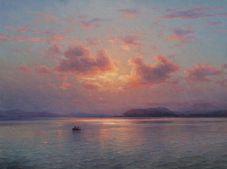 Sunset in Lake Sevan