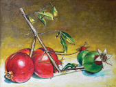 Red and Green Pomegranates, 2009